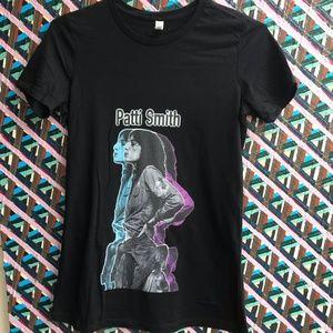 XL Patti Smith black cotton tee NWT profile of PS